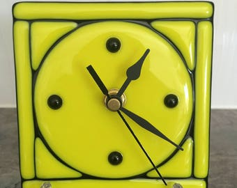 Fused Glass Desk Clock