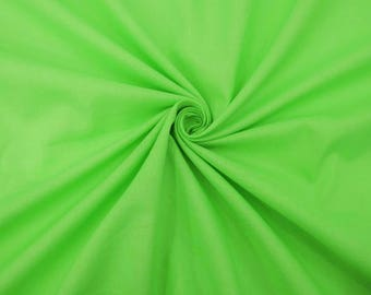 "Green Fabric, Quilt Material, Upholstery Fabric, Dress Fabric, Sewing Crafts, 43"" Inch Cotton Fabric By The Yard ZBC7598G"