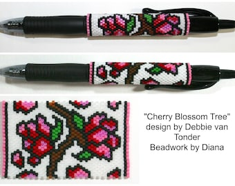 Cherry Blossom Tree beaded pen