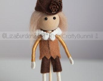 Woodland Wood Elf Forest Guardian Fairy Festival Fantasy Bendy Art Doll Collectors Doll