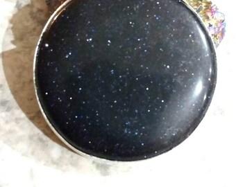 Beautiful Blue Sandstone Pendant Necklace
