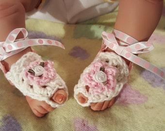 Barefoot Baby Sandals, Boho Barefoot Sandals, Baby Sandals, Ballet shoes, Baby shoes