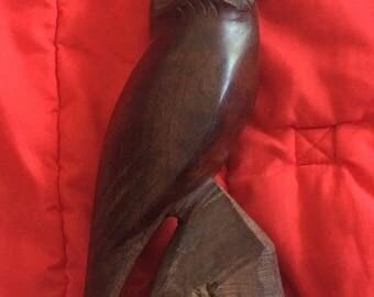 Vintage hand carved owl