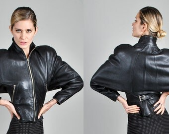 Vintage 1980's North Beach Leather Jacket                                           A4