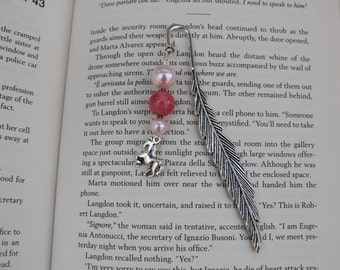 Bookmark, Silver Tone Bookmark, Horse Charm, Animal Lover Gift, Stocking Filler, Craft Charms, Beaded Bookmark, Book Lover Gift.