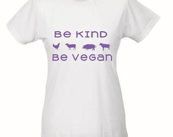 Vegan T shirt, Women's vegan top, animal t shirt, cute vegan t shirt, vegan for the animals, vegan clothes, gifts for vegan, vegan birthday