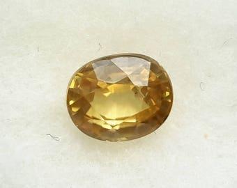 1.75 ct natural zircon, 7.2 mm x 6 mm x 4 mm, zircon loose genuine gemstone, zircon natural gem, oval zircon gemstone,