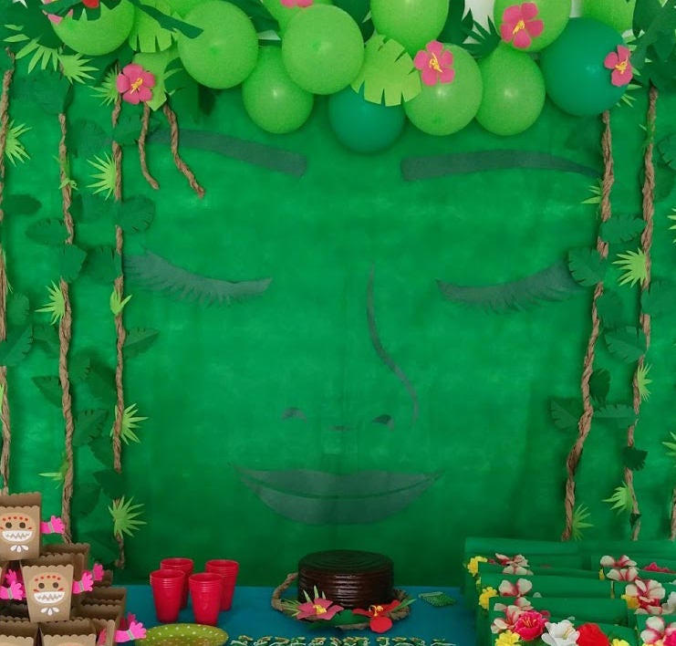 DIY Moana Returns the heart of Te Fiti Backdrop