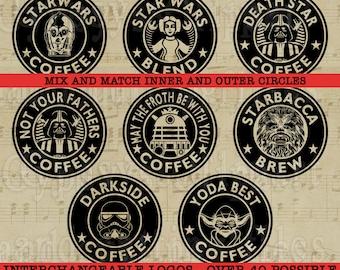 Coffee svg,Starwars svg, Mug Clipart, Coffee Mug design, coffee logo, T Shirt Design, Cutting file, or Clipart, png, svg,ai,eps, dxf