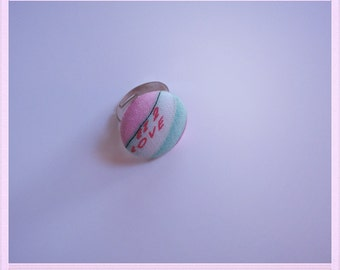 Love button ring