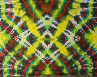 Psychedelic Tie-Dye Tapestry