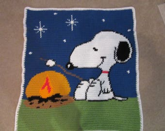 Snoopy camping blanket