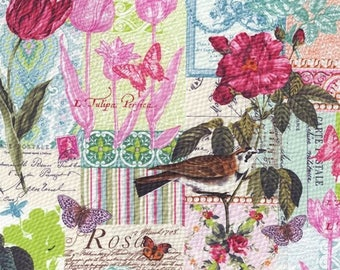 Michael Miller - French Journal, Belle Rose in pink