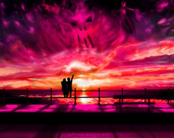 Surreal Sunset Poster Print, By CrownosArts