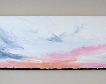 Another Sunset, This Time Pink - Abstract Acrylic Painting