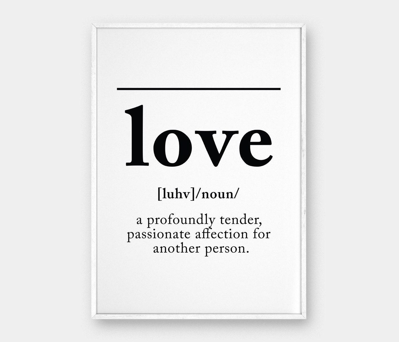 Wall Decoration Definition : Love definition wall art print printable