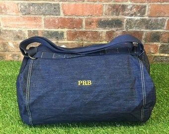 Personalised denim duffle- The Collins
