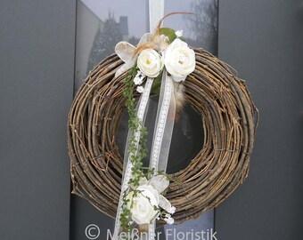 Door wreath 'Ranunkel'