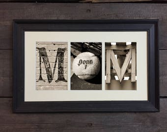 Tennis Mom, Gift- Letter Art Sign, Architectural Letter Art - Mother's Day Gift
