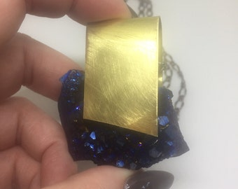 Cobalt Blue Amethyst Necklace Stimulate Creativity