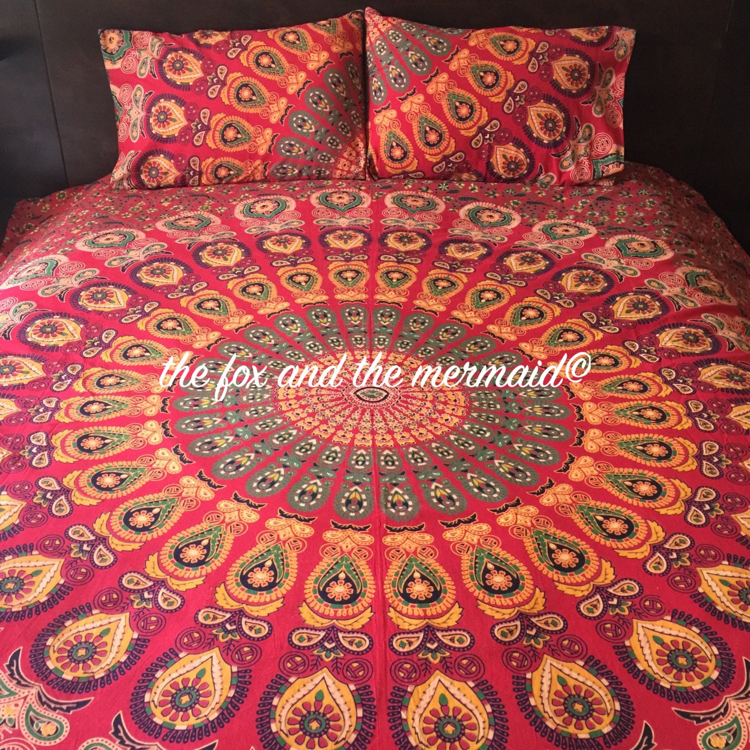 Mandala Duvet Cover And Pillowcases Indian Tapestry Doona