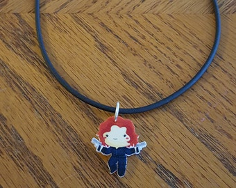 Avengers Inspired Black Widow Necklace