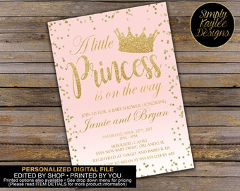 A little Princess is on the way Baby Shower Invitation