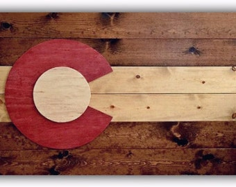 "Colorado Flag Wood (~16"" x 26"")"