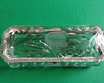 Antique Cut Crystal (ABP) Vanity Glove Box