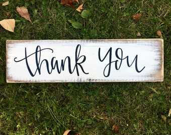 Thank You - Wood Sign | Rustic Decor | Rustic Wedding | Wedding Sign | Rustic Wedding Decor | Rustic Sign | Wedding Decor | Photo Props