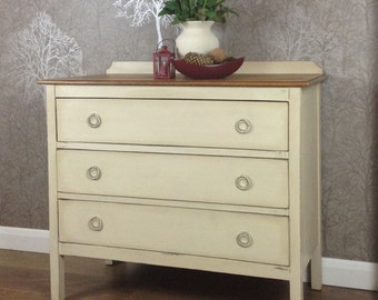 SOLD SOLD Vintage chest of drawers/Oak/Hand painted