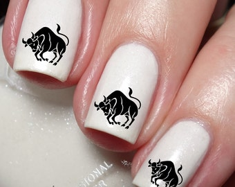 Zodiac Sign Symbol Sign Taurus (The Bull Apr20_May20) Nail Art Sticker Water Transfer Decal Tattoo 96