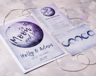 To the Moon and Back Wedding Invitation - Invite Suite sample