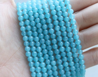 4mm Blue Sponge Quartz, Quartz Beads, 4mm Beads, 4mm Gemstone Beads, 4mm Quartz Beads, 4mm Round Beads, 4mm Gemstone Strand,Blue Quartz