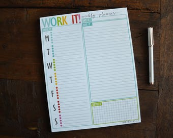 Weekly Notepad - Work It!