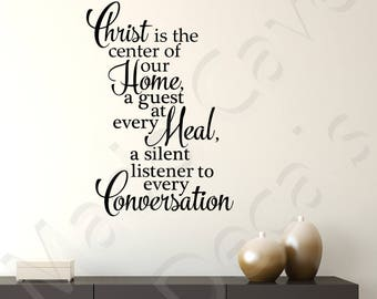 Christ Is The Center Christian Vinyl Wall Decal Religious Quote Scripture