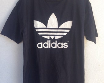 Vintage adidas big logo tshirt M