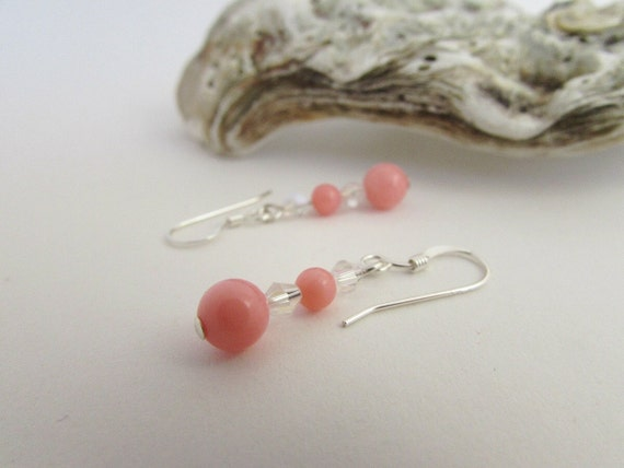 Coral Gifts 35th Wedding Anniversary: Coral Earrings Pink Coral Jewelry 35th By Angelawarwickjewelry