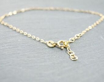 fine chain bracelet sterling silver 925 gold pl.  #3846