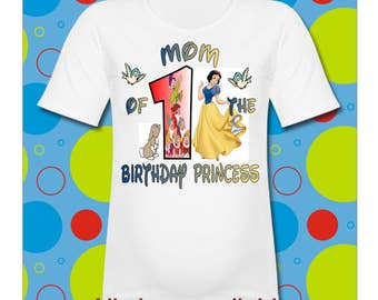 Mom of the Birthday Princess Snow White T Shirt All SIZES available Snow White T Shirt