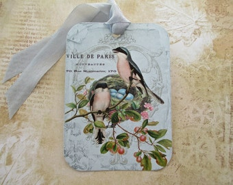 Tags, Gift Tags, Vintage Tags, Bird Tags, French Tags