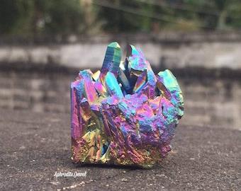 Rainbow Titanium Aura Crystal Quartz