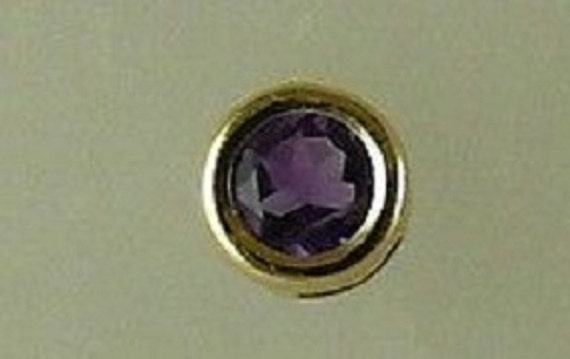 Amethyst 0.48ct Earring 14k Yellow Gold