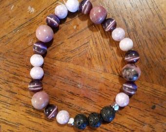 Essential Oil Diffuser Bracelet- Royal Purple