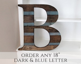 Fall decor wood letter rustic home decor home decor for Party wall act letter to neighbour