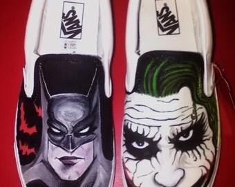 Batman vs. Joker Vans custom shoes