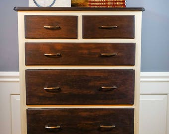 Six Drawer Tall Boy Chest of Drawers