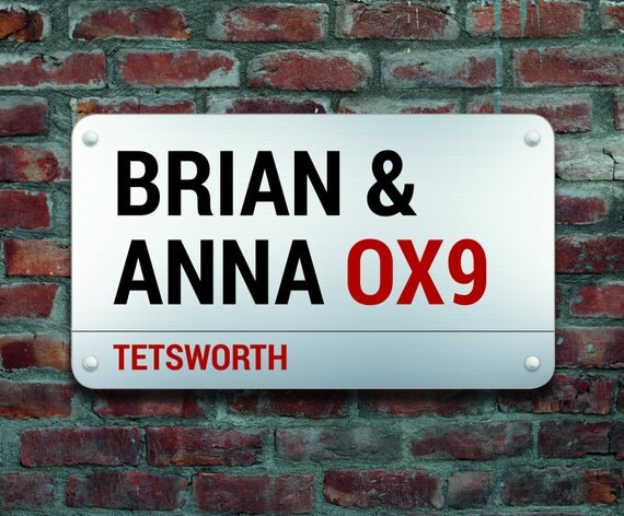 Personalised Street Sign on Canvas