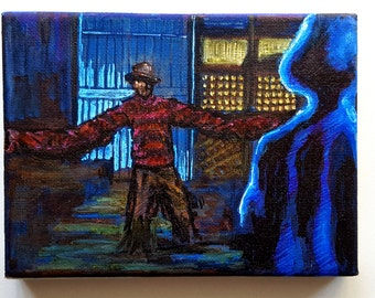 MINI HORROR art canvases - A Nightmare On Elm Street