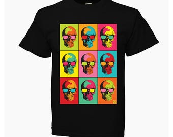 Kid T-SHIRT KOMOA pop Skull BLACK